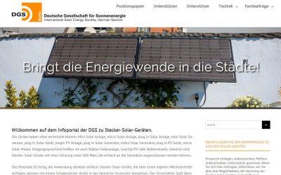 DGS fordert Bagatellgrenze für Stecker-Solar-Geräte